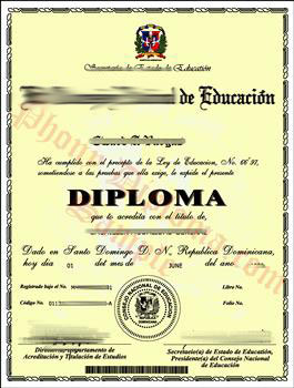 Fake Diploma from Dominican Republic University Dominican Republic D